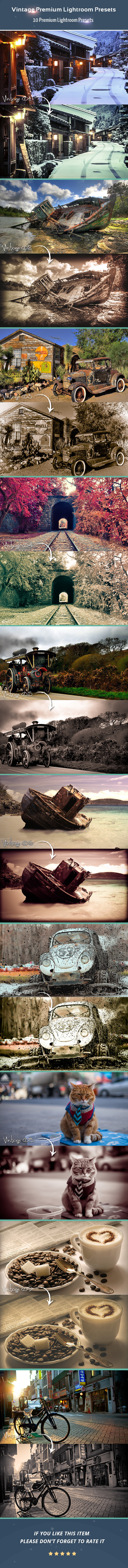GraphicRiver Vintage Premium Lightroom Presets 11542352