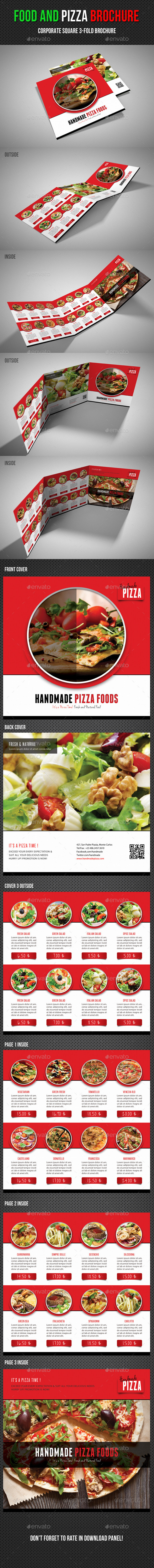 GraphicRiver Food And Pizza Square 3-Fold Brochure 01 11542498