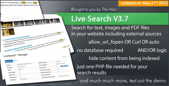 Live Search - Searchengine for your Website - CodeCanyon Item for Sale