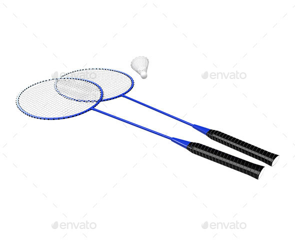 GraphicRiver Rackets and Shuttlecock 11543016