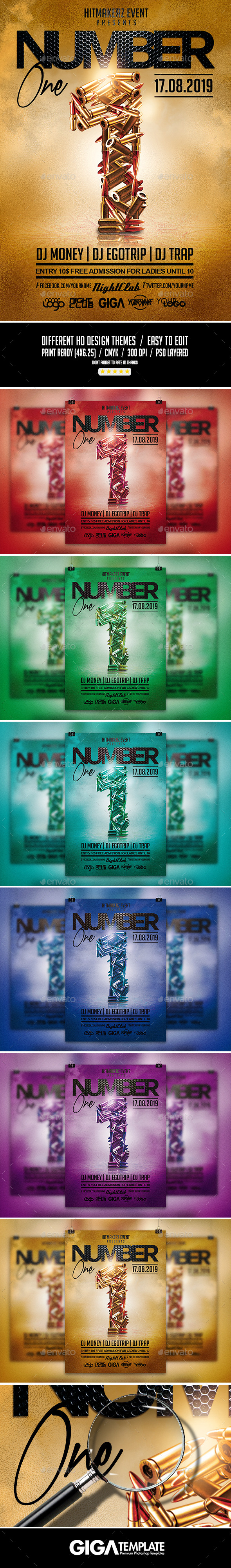 GraphicRiver Number One Hip-Hop Rap Night Flyer PSD Template 11543221