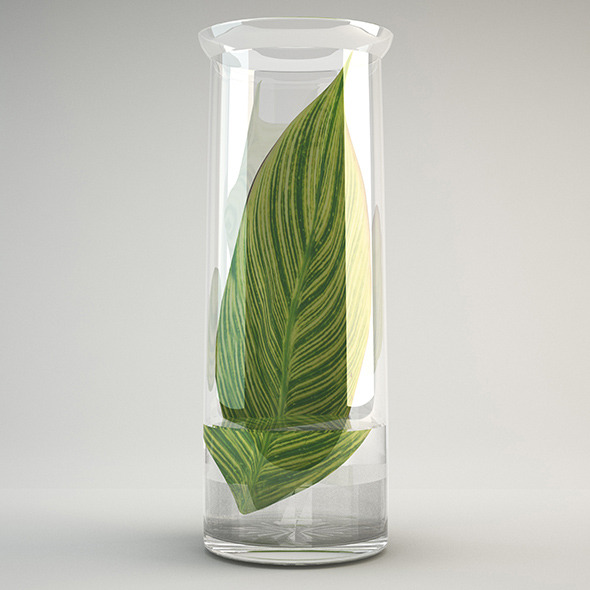 Vase glass - 3DOcean Item for Sale