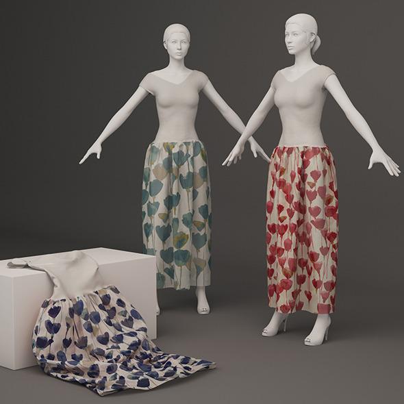 Color dress - 3DOcean Item for Sale