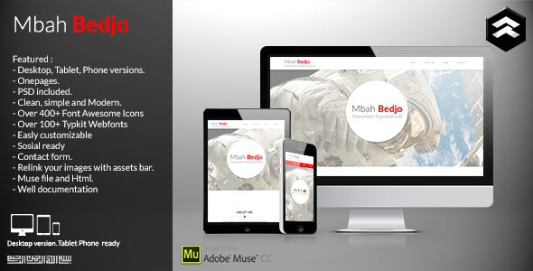ThemeForest Mbah Bedjo CV Resume Muse Template 11543662
