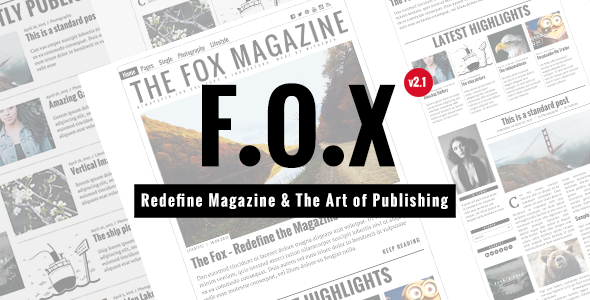 The Fox - Contemporary Magazine Theme for Creators