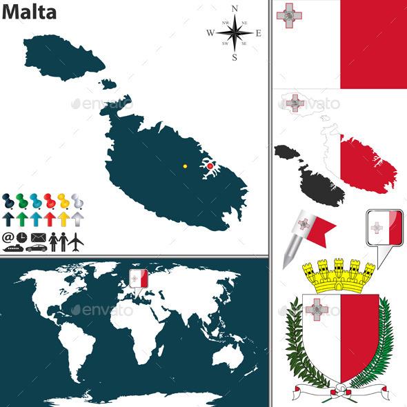 GraphicRiver Map of Malta 11544281