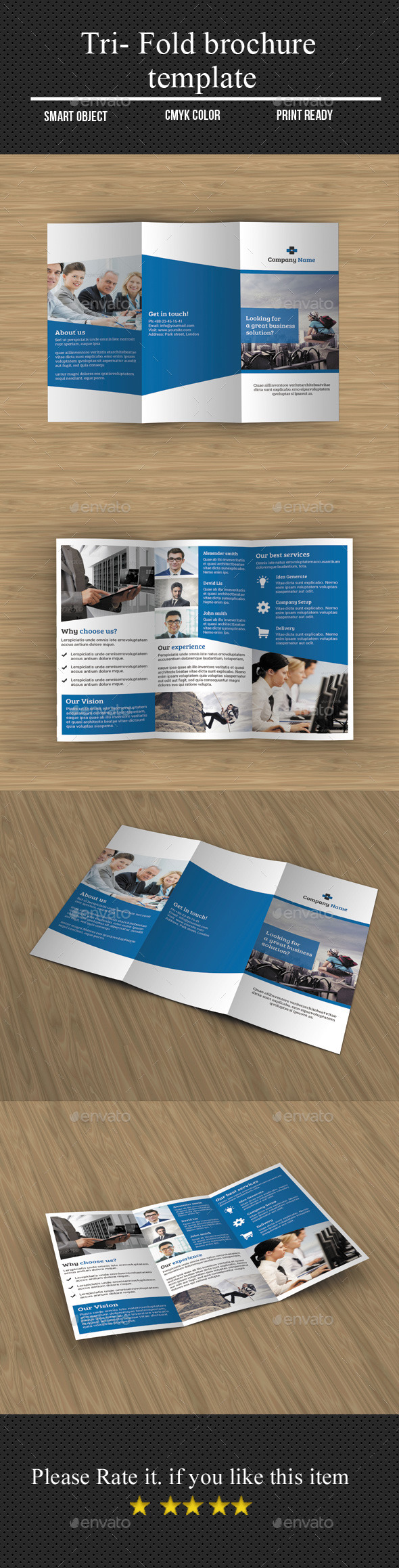 GraphicRiver Tri- Fold Corporate Brochure 11544337