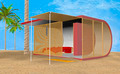 3D Illustration Beach Bungalow - PhotoDune Item for Sale
