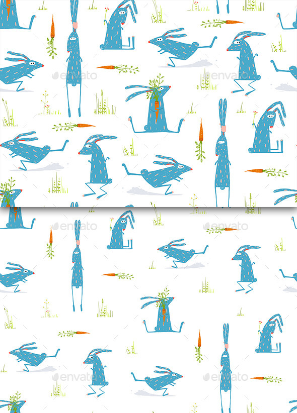 GraphicRiver Rabbits Seamless Pattern Background 11544500