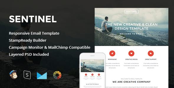 ThemeForest Sentinel Responsive Email & StampReady Builder 11544675
