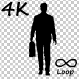 Businessman With Bag Walk Cycle - VideoHive Item for Sale