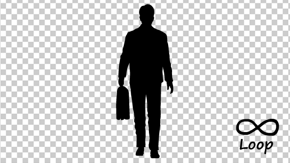 Businessman With Bag Walk Cycle