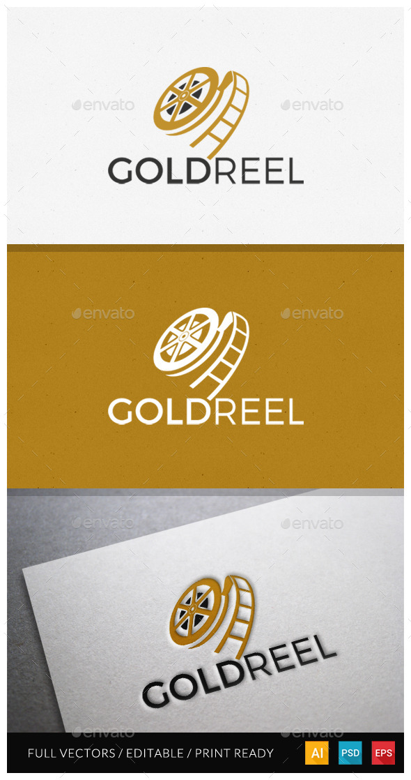 GraphicRiver Goldreel Logo Template 11544707