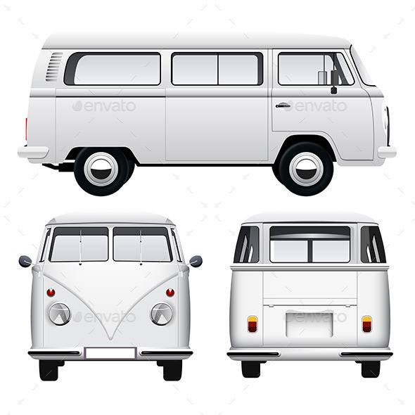 GraphicRiver Retro White Camper 11544781