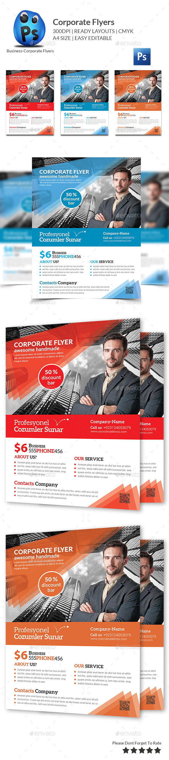 GraphicRiver Multipurpose Business Flyers Templates 11544908