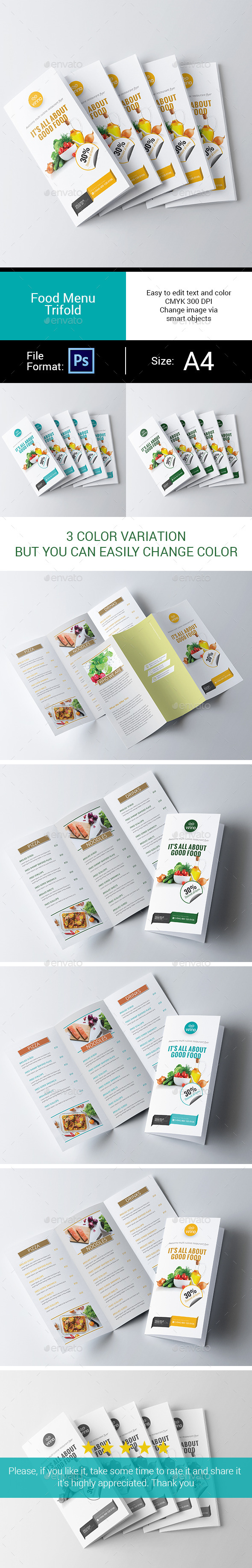 GraphicRiver Food Menu Trifold 11544937