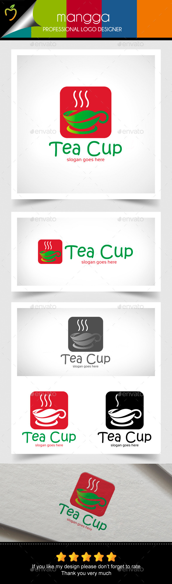 GraphicRiver Tea Cup Logo 11545242