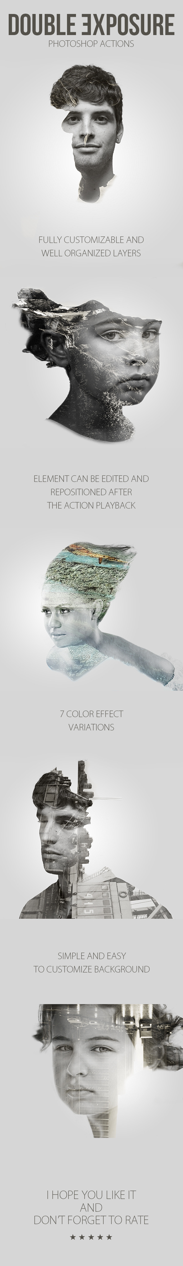 GraphicRiver Double Exposure Photoshop Actions 11545276