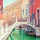 Small bridge over a canal in Venice, Italy. - PhotoDune Item for Sale
