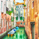 HDR - Narrow canal in Venice, Italy. - PhotoDune Item for Sale