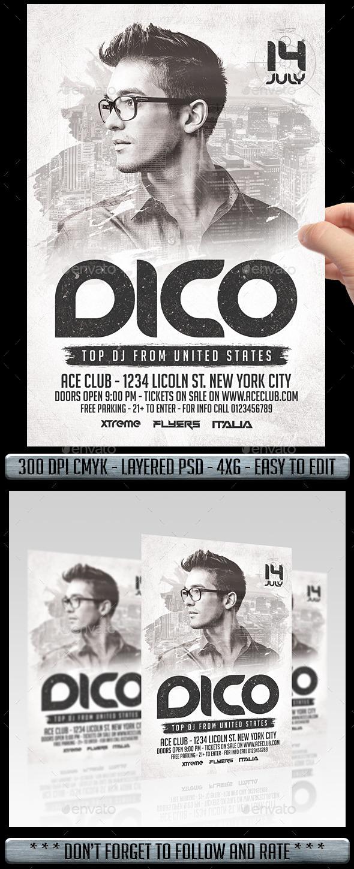 GraphicRiver Club DJ Flyer 11545864