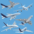 airplane collection set isolated - PhotoDune Item for Sale