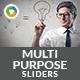 Multipurpose Sliders -  2 Designs - GraphicRiver Item for Sale