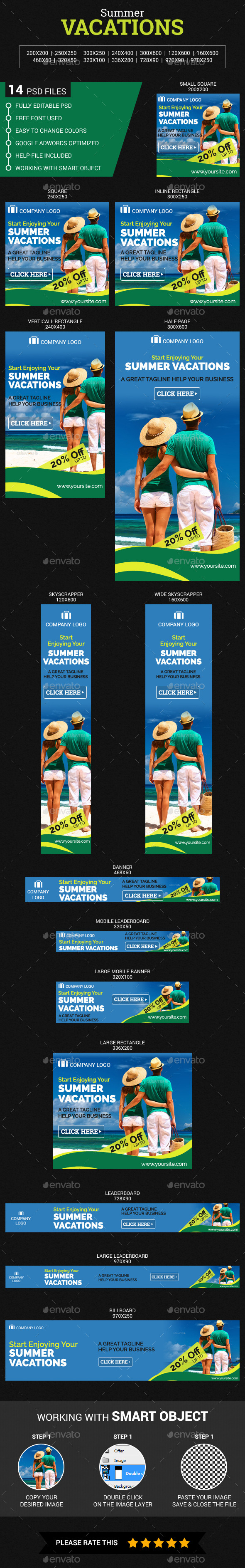 GraphicRiver Summer Vacations 11546042