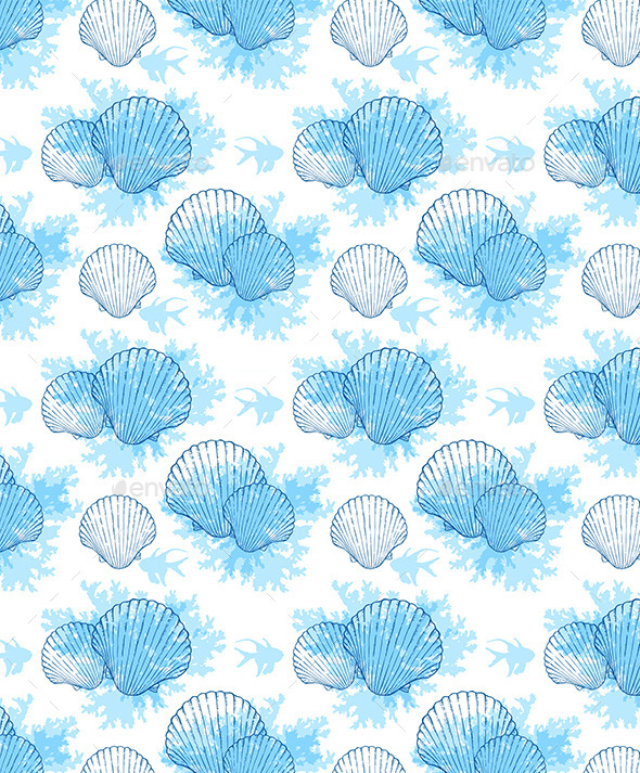 GraphicRiver Blue Marine Seamless Pattern 11546451