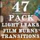 Light Leaks - Film Burns (47 Pack) - VideoHive Item for Sale