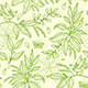 Green Seamless Pattern with Plants and Birds - GraphicRiver Item for Sale