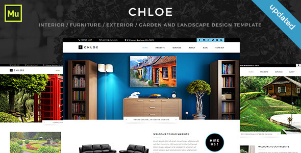 ThemeForest Chloe Interior Furniture Exterior Garden and Landscape Design Template 11423463