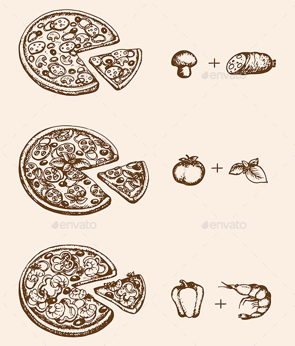 GraphicRiver Pizza and Ingredients 11546810