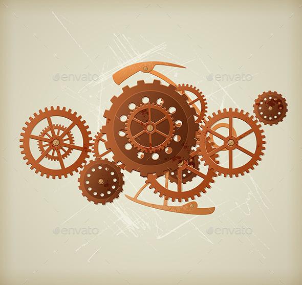 GraphicRiver Steampunk Background 11546843