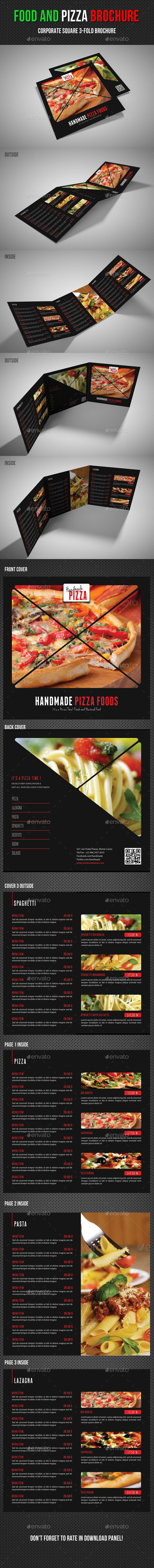 GraphicRiver Food And Pizza Square 3-Fold Brochure 02 11546931