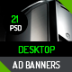 Desktop Ad Banner 21 Sizes - GraphicRiver Item for Sale