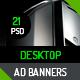 Desktop Ad Banner 21 Sizes - GraphicRiver Item for Sale