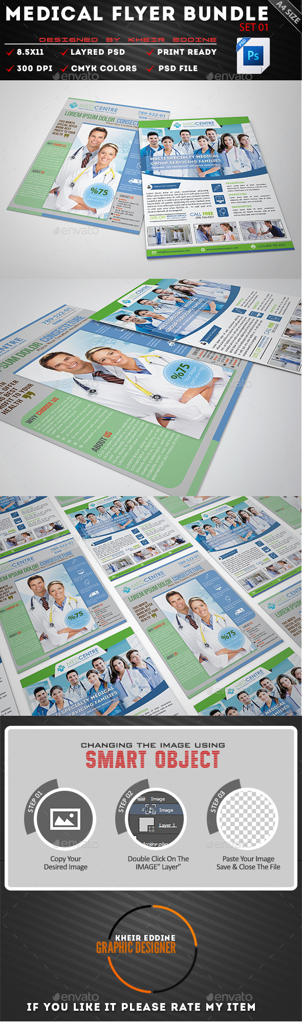 GraphicRiver Medical Flyer Template Bundle Set 01 11547121