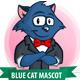 Blue Cat Mascot - GraphicRiver Item for Sale