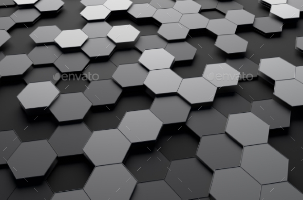 GraphicRiver Abstract 3D Rendering Of Surface With Hexagons 11547198