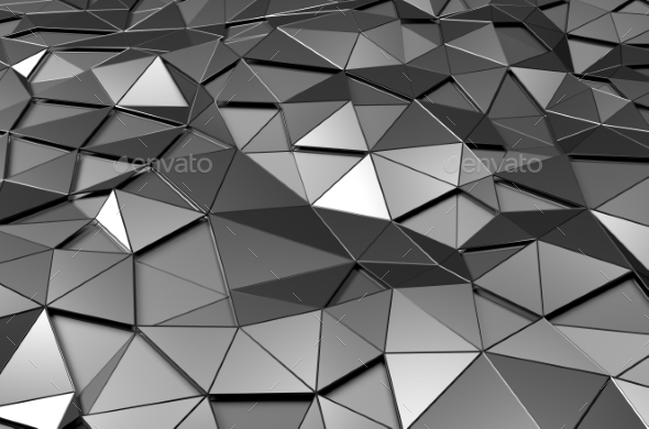 GraphicRiver Abstract 3D Rendering Of Low Poly Metal Surface 11547203