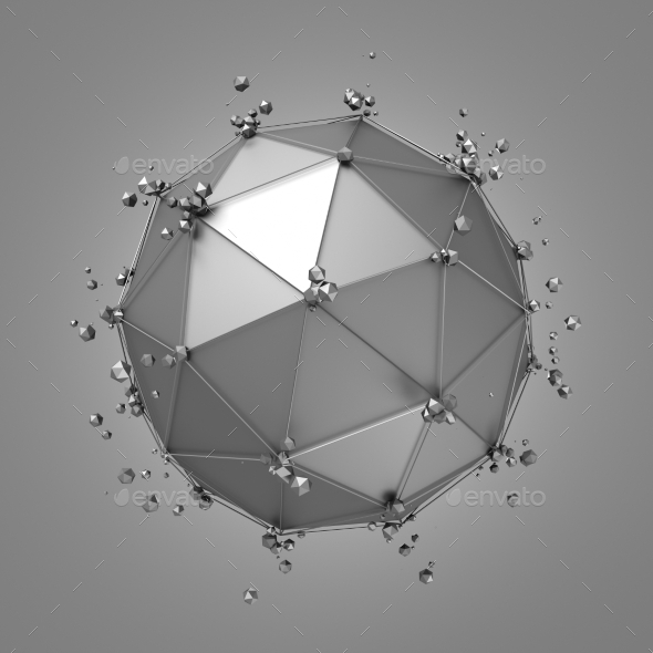 GraphicRiver 3D Rendering Of Sphere With Chaotic Structure 11547210