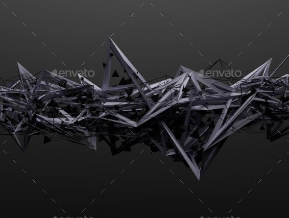GraphicRiver Abstract 3D Rendering Of Chaotic Structure 11547215