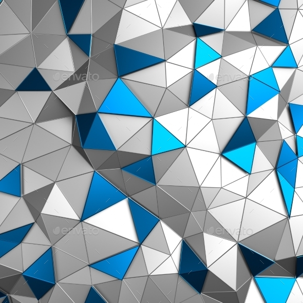 GraphicRiver Abstract 3D Rendering Of Low Poly Metal Surface 11547232