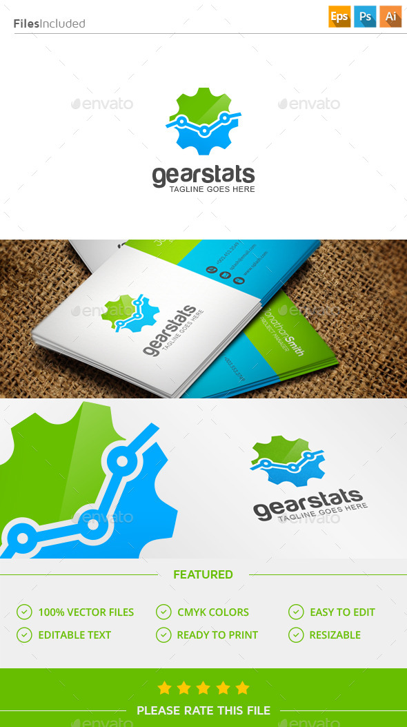 GraphicRiver Gear Stats Logo 11547289