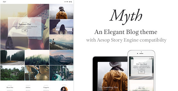 ThemeForest Myth An Elegant Storytelling WordPress Blog Theme 11471868