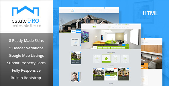 ThemeForest Estate Pro Real Estate HTML Template 11481808