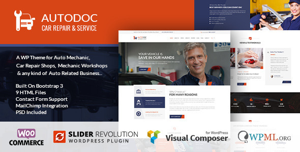 AutoDoc - Car Repair Mechanic Shop WordPress Theme