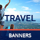 Flat & Minimal Travel Banners - GraphicRiver Item for Sale
