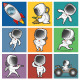 Set of Astronauts. - GraphicRiver Item for Sale
